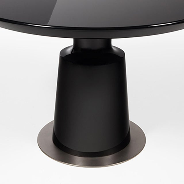 Image of Holly Hunt Black Peso Dining Table