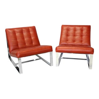 Pair Milo Baughman for Thayer Coggin Lounge Chairs