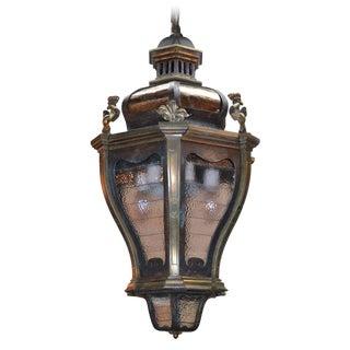 19th C. Italian Bronze & Iron Lantern