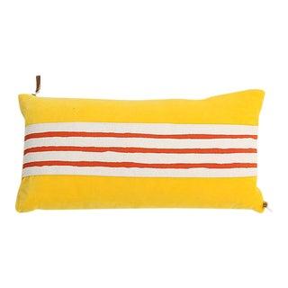 Erin Flett Yellow Velvet Lumbar Pillow
