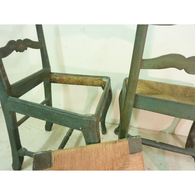18th C. French Painted Chairs - A Pair - Image 5 of 6