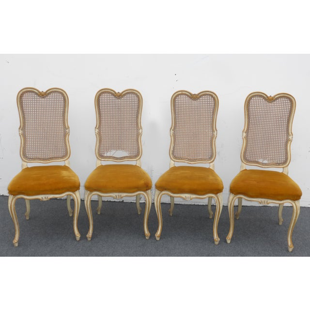 Image of Vintage Karges Louis XV Style Cane Back Chairs