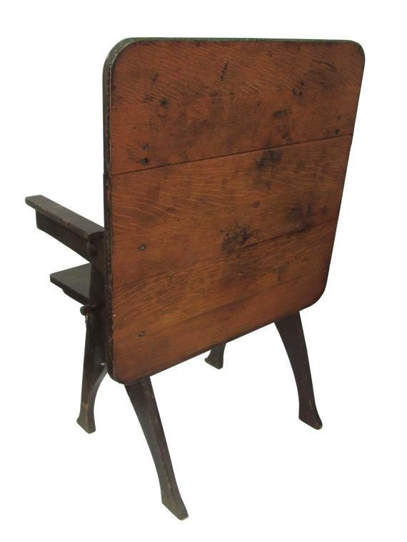 Rustic Antique Pegged Tilt Top Table Bench   Image 4 Of 5