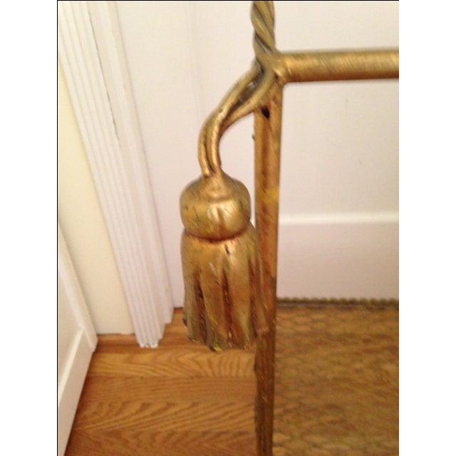Image of Vintage Italian Gold Leaf Towel Stand