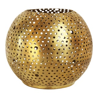 Large Brass Ball Candle Holder