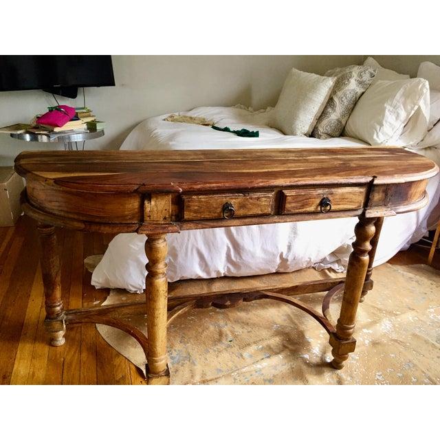 Antique Oak Hall Desk - Image 6 of 7