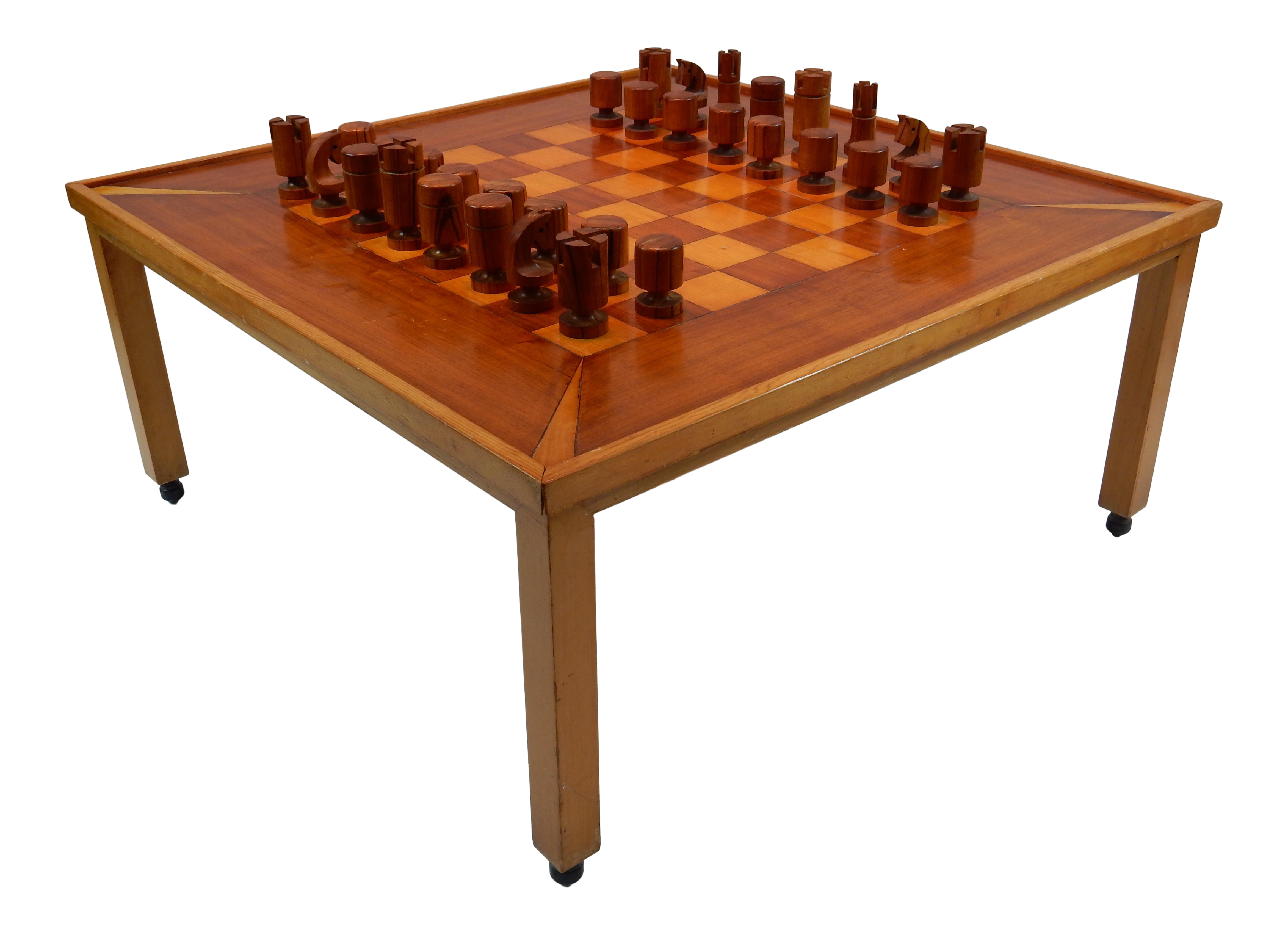 Vintage Mid Century Modern Chess / Game Table By Lane