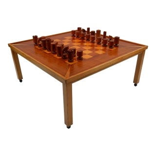 Vintage Mid-Century Modern Chess / Game Table by Lane