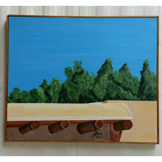 Santa Fe Skyline Signed Original Acrylic Canvas - Image 2 of 6