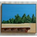 Image of Santa Fe Skyline Signed Original Acrylic Canvas