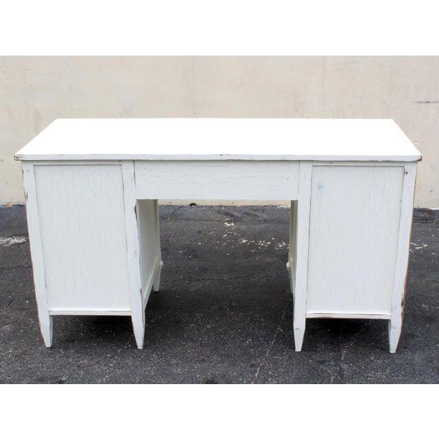 Mid-Century White Desk - Image 6 of 7