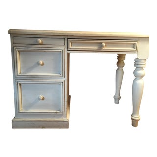 Shabby Chic Desk in White Washed Pine