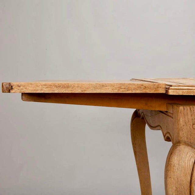 French Bleached Oak Table with Self Storing Leaves - Image 8 of 9