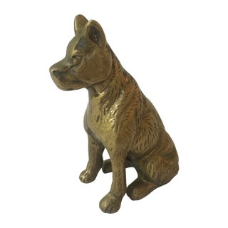 Vintage Brass Dog