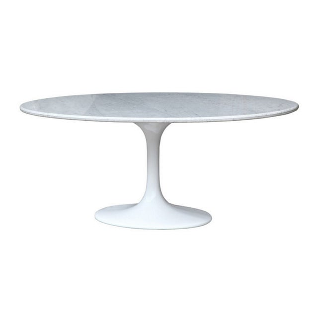 Saarinen Style Oval Marble Dining Table - Image 2 of 7