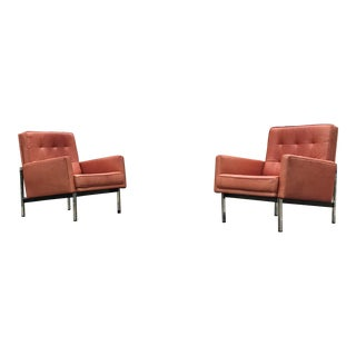 Florence Knoll Parallel Bar Lounge Chairs - A Pair