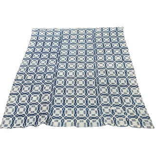 19th-C. Blue & White Americana Bed Cover