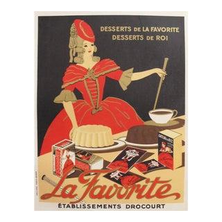 1930s French Vintage Food Poster, La Favorite Baking