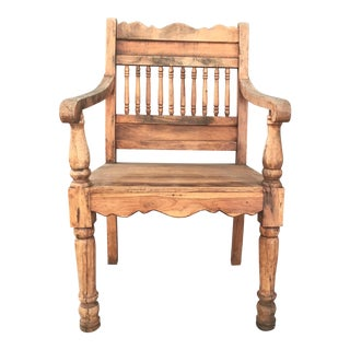 Hand-Carved Throne Chairs - A Pair