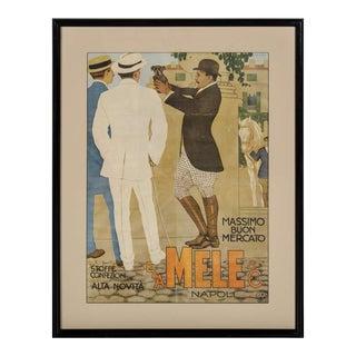 Belle Epoque Italian Fashion Art Lithographic Poster by Marcello Dudovich