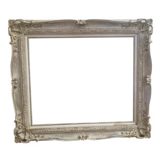 Vintage French Baroque White Art Frame 20x24""