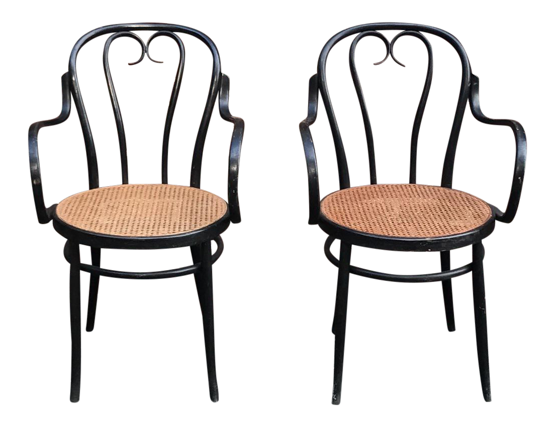 Thonet Bentwood Bistro Cafe Chairs   A Pair
