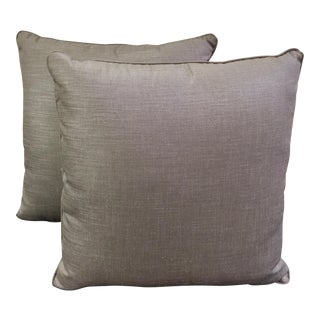 Light Gray Throw Pillows - a Pair
