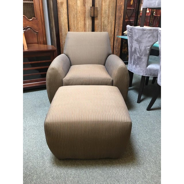 Dakota Jackson Ke-Zu Chair & Ottoman Set - Image 2 of 9