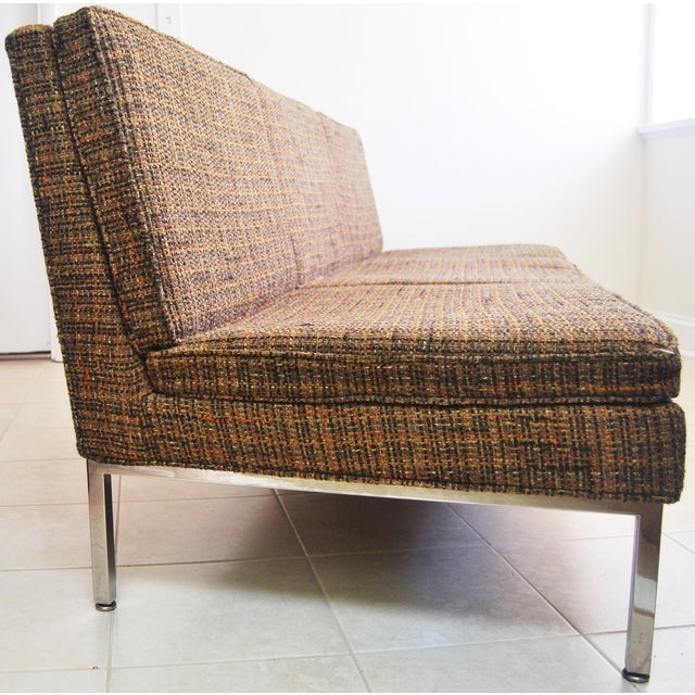 Image of Mid-Century 3-Seat Sofa on Chrome Frame