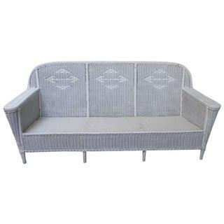 Vintage Art Deco Style Wicker Sofa Lloyd Loom