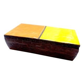 "Bitossi ""Mondrian"" Lidded Glazed Ceramic Box"