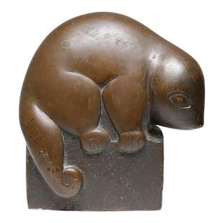 Mid-Century Marian Weisburg Bronze Finish Baby Opossum