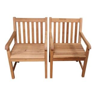 Teak Garden Chairs - Pair