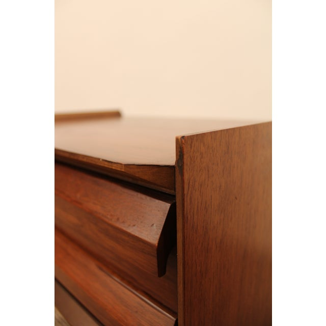 Lane Mid-Century Danish Modern Walnut Nighstands- A Pair - Image 10 of 11