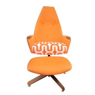 Adrian Pearsall Swivel Chair & Ottoman