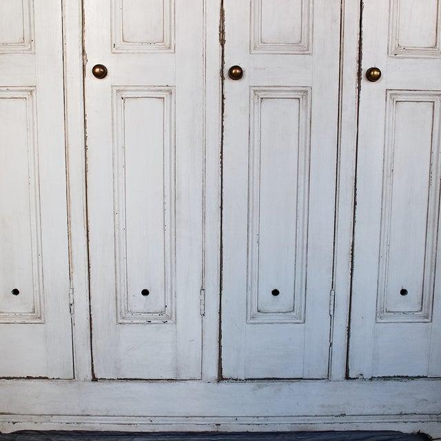 Antique White Distressed Schoolhouse Lockers - Image 8 of 11