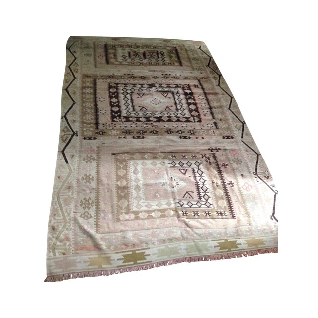 Turkish Kilim Rug - 5′3″ × 8′9″ - Image 1 of 6
