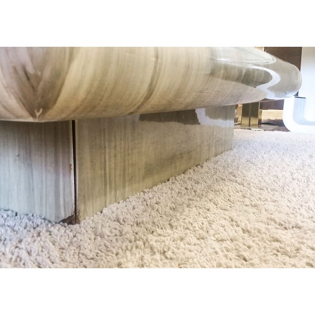 Monumental 1970s Faux Marble Coffee Table - Image 3 of 5