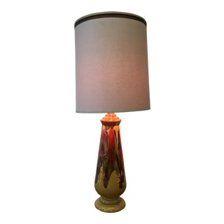 Mid-Century Modern Glazed Ceramic Lamp