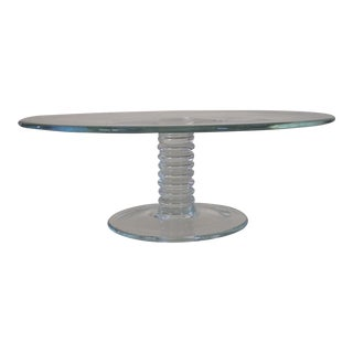 Tiffany & Co Hand Blown Crystal Cake Stand
