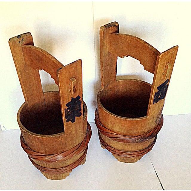 Image of Authentic Sumo Wrestler Water Buckets