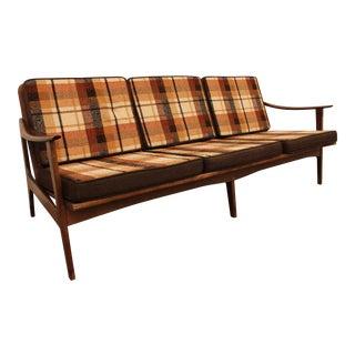 Mid-Century Danish Modern Walnut Sofa