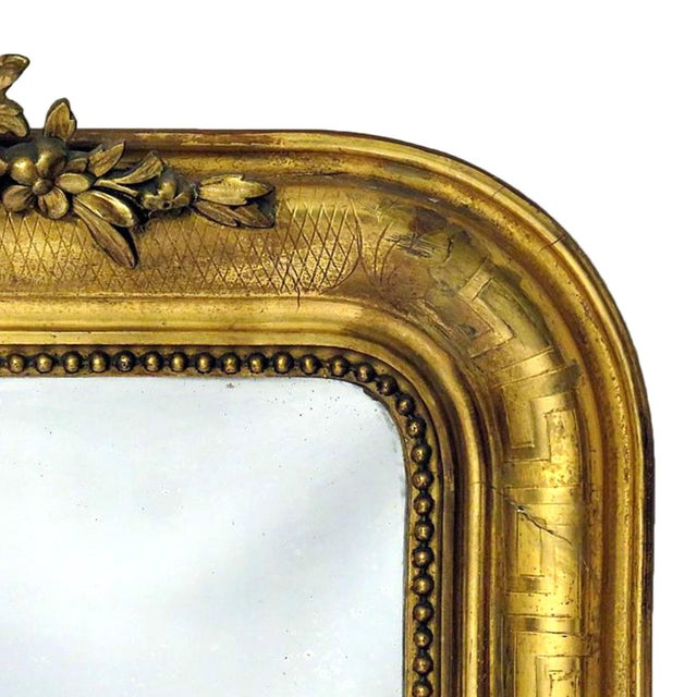 Louis Philippe Giltwood Mirror - Image 2 of 4