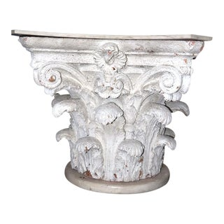 Architectural Corinthian Plaster Capital Table Base