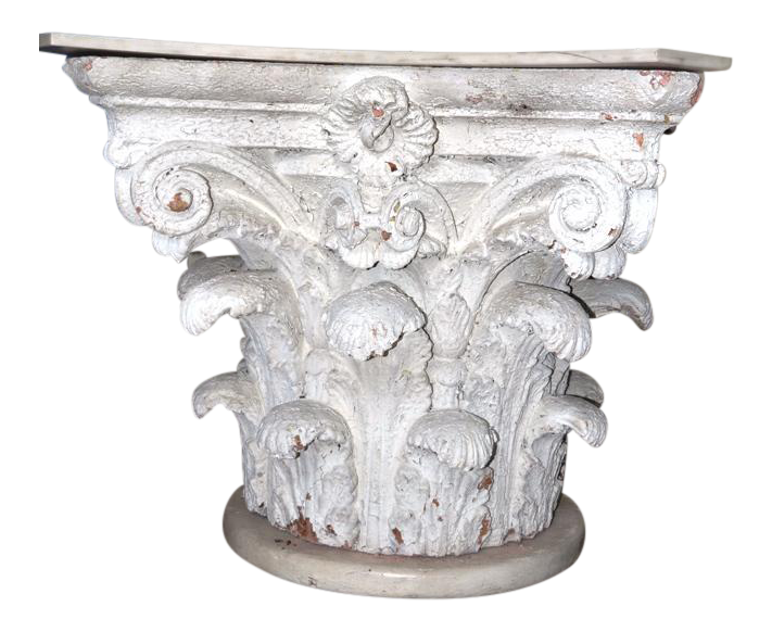 Architectural Corinthian Plaster Capital Table Base   Image 1 Of 11