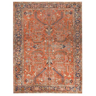 Antique Persian Heriz Carpet