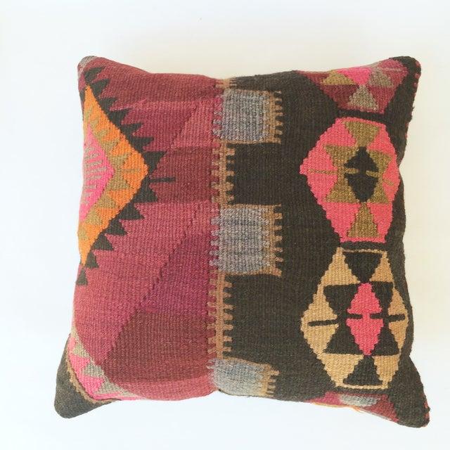 Turkish Kilim Pillow - Image 2 of 3