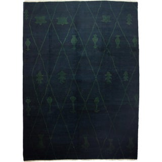 """Moroccan Beni Ourain Style Hand-Knotted Rug - 8' 10"""" x 11' 1"""""""