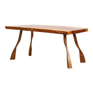 Baby Nakashima Style Wood Plank Occasional Table