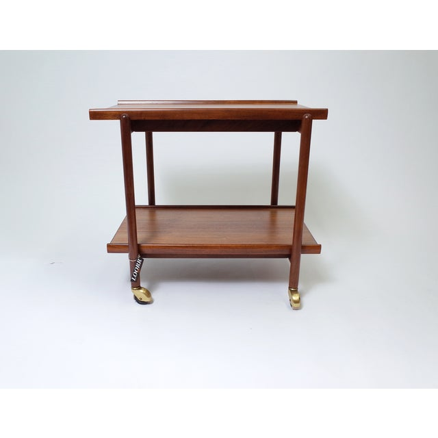 Poul Hundevad Danish Modern Teak Bar Cart - Image 4 of 6